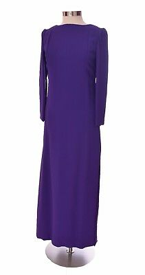 de7ef90af85 Jean Patou Vintage Couture Bergdorf Goodman Boutique Long Purple Dress Size  L