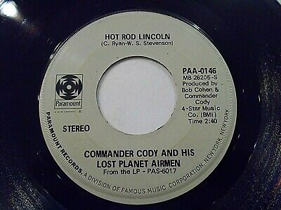 Commander Cody Hot Rod Lincoln / My Home In My Hand 45 1972 Vinyl Record