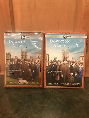 PBS MASTERPIECE DOWNTON ABBEY SEASON 5 (DVD, 2015, 3-Disc Set)   NEW SLIPCOVER
