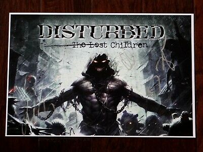 Disturbed Band Signed The Lost Children 12X18 Promo Poster & Setlist!!!