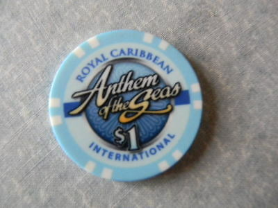 "Royal Caribbean Cruise $1.00 Casino Chip ""ANTHEM OF THE SEAS"""