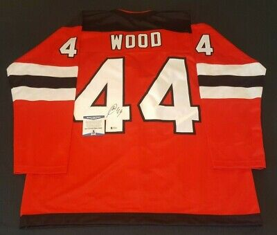 b6ce17d5 Miles Wood New Jersey Signed Authentic Style Custom Jersey Coa Bas Beckett