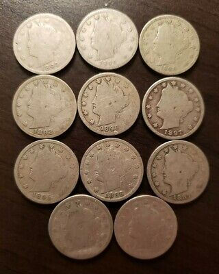 Nice  lot of Eleven different better date Liberty head nickels