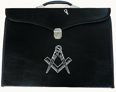 Masonic regalia master mason Provincial Apron & Chain Collar case/bag & compass