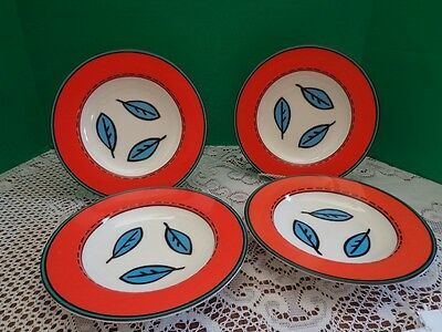 Villeroy Boch Rim Bowls Set of 4 Novi Discontinued Cereal Soup Bowl