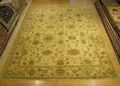 10 x 14 Hand Knotted Fine Quality Egyptian Sultanabad Rug _Vegetable Dyes Wool