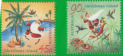 """2005 """"Christmas Island Christmas"""" post office pack of 2 mint/MNH + matching FDC"""