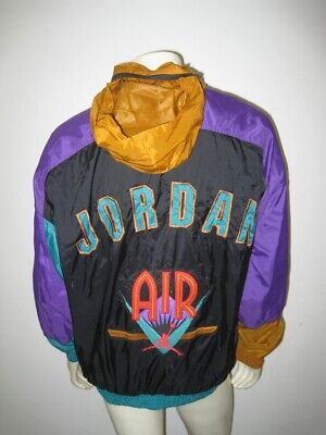 ab204cf4c939 VINTAGE NIKE JORDAN Hooded Jacket Yellow Black YOUTH XL (ADULT SMALL ...