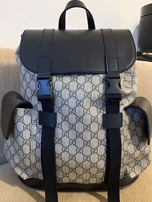 85ce3e7fea39 GUCCI Soft GG Supreme Unisex Backpack Bag New Style 450958