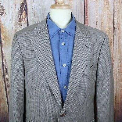Brooks Brothers Men's Loro Piana Sport Coat 43R 100% Wool Made In Italy Blazer