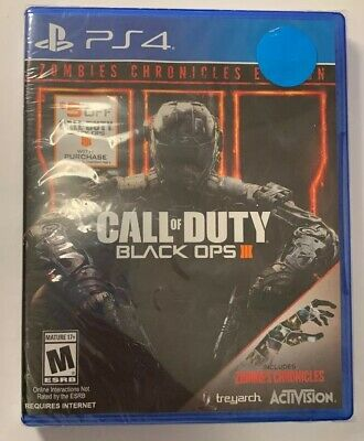 Call of Duty: Black Ops III + Zombie Chronicles (PlayStation 4) BRAND New! 2017