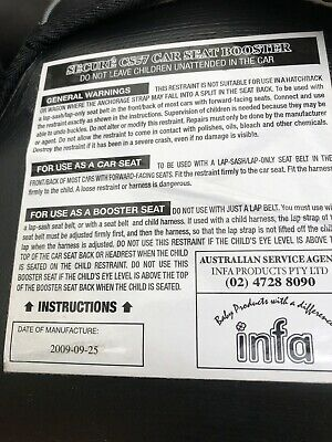 infa secure booster seat