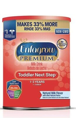 Enfagrow Premium Toddler Next Step Formula Stage 3, (36.6 oz) Non-GMO 1-3 Year