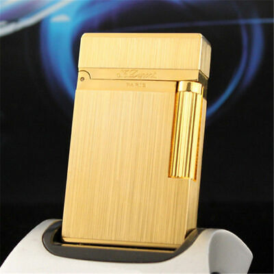 New S.T Dupont Memorial Golden Wire drawing lighter Bright Sound