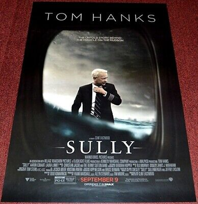 Clint Eastwood's SULLY 2016 ORIGINAL D.S. ADVANCE 27x40 MOVIE POSTER! TOM HANKS!