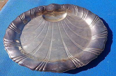 Platter Neptune Rogers Bros 9310 Clam Shaped Footed Silver Plated Vintage BR2