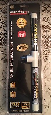 Magic stick TV2 T-Max HD antenna 16ft coaxial free HDTV Digital channel 4K 1080p