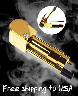 Pipe Solid Brass Deluxe Smoking Generic Smoking Durable Pipe Tobacco Cigarettes