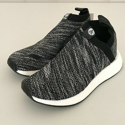 790d0fcf7ad04 NEW adidas Mens UA Sons NMD CS2 Primeknit Shoes Black White Oreo Sz 5 ( DA9089)