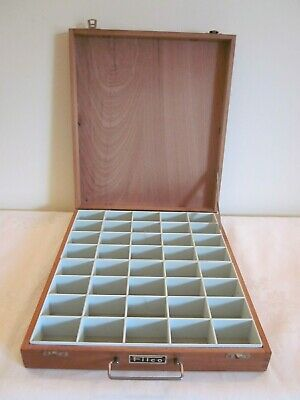 Vintage Filco Large Wooden Box for Photographic Slides ~ 40 sections  ruemiraldi