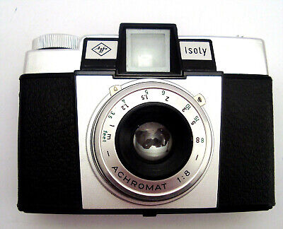 Agfa -Kamera Soly Ledertasche West Germany 6121um 1960