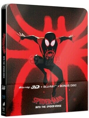 Spiderman Into The Spiderverse (Bluray 3D) FAC Collectors Steelbook