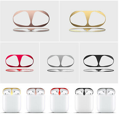 Metal Dust Guard Protective Sticker Cover for Apple Bluetooth EarphoneAccessory