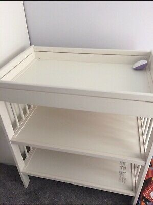 White Wooden Changing Unit