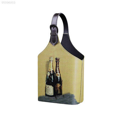 E2AD Retro Wine Box Storage Holder Organizer Blanket For 2Bottles Carrier With