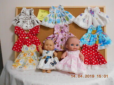 10 LITTLE DOLLS DRESSES(ONLY) TO FIT BERENGUER   7.5-8 inch -19-20 cm HIGH.