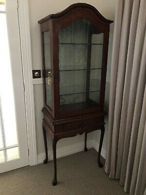 Antique Crystal Display Cabinet