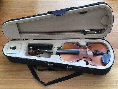 Chamber 1/2 half size violin student outfit VCG bow, case, shoulder rest, rosin