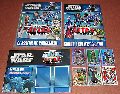 Star Wars Force Attax complete set New in binder + all 6 limited edition cards !