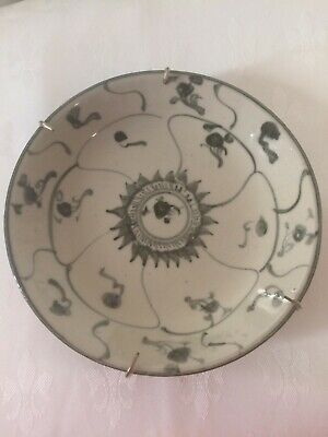 Antique Chinese Lotus Lingzhi & Spiral plate Qing dynasty. Before 1840.