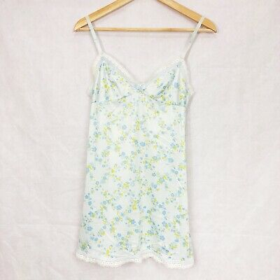 Cute Vintage Retro 60s Floral Mini Dress Slip KAYSER Lingerie Nylon Size 32
