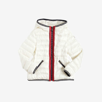 Moncler for Kids 'Raie' Down Jacket - White