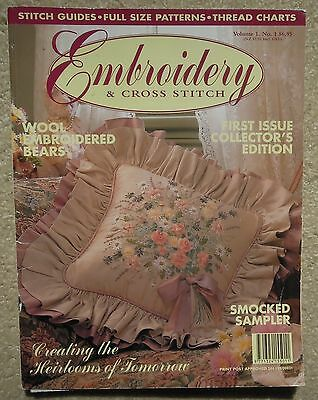 Embroidery & Cross Stitch Magazine Vol 1 No 1 First Issue Collector's Edition