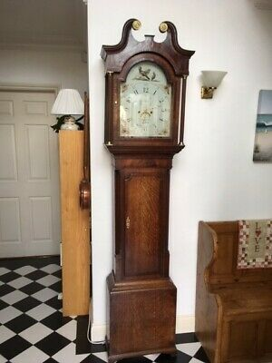 19th Century, Oak, 8 Day, Longcase clock by Rea & Co of Walton Grandfather Clock