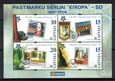 Latvia 2006 _ The 50th Anniversary of the First Europa Postage Stamp _ MNH **