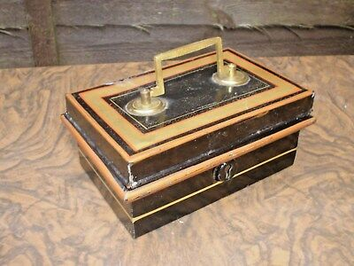 Vintage Metal War Cash Box With Removable Tray Inside