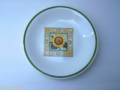 "Over and Back Italy Sunflower Design Pottery 7 7/8"" Lunch Salad Dessert Plate"