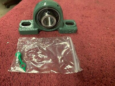 "2- P204  Pillow Block Bearings W/Uc204-12  Screw Inset 3/4"" Bore, Grease Zerk"