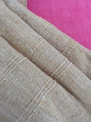 Antique French Homespun Linen And Hemp Table Cloth Fabric Throw Unused Mono J F
