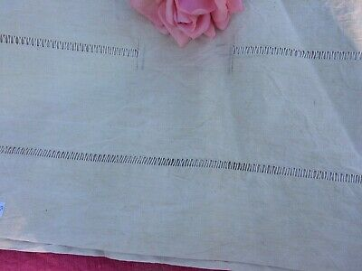 Unused Vintage French Linen Metis Sheet Handworked Ladderwork 280 Cms X 220 Cms
