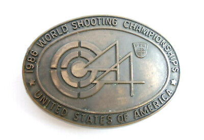 1986 World Shooting Championships United States of America Belt Buckle
