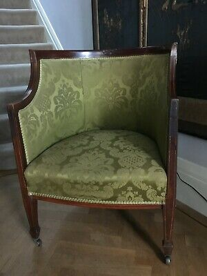 Antique Victorian Mahogany framed armchair / hall chair