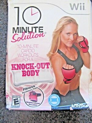 10 Minute Solution (Nintendo Wii, 2010) TOTAL BODY WORKOUT
