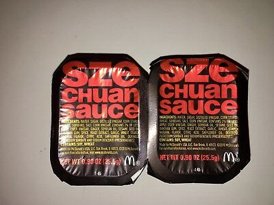 2018 Mcdonalds -2 Szechuan Sauce Packets  Limited Edition Lot of 2