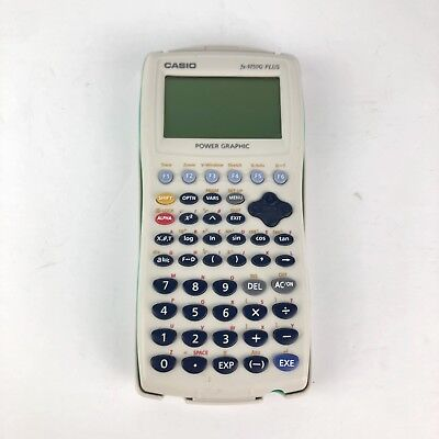 Casio FX-9750G Plus Graphing Calculator Handheld Power Graphic Tested Works