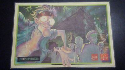 1989 Vintage Mcdonalds Placemat Promo for Ghostbusters 2 II (GB2) Coca Cola Coke